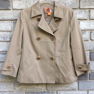 Tory Burch Army Style Button Front Jacket Blazer